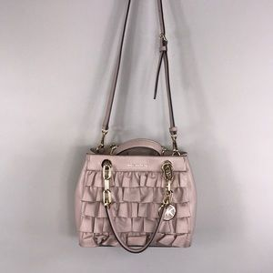 a38081a31c09 Michael Kors Bags - MICHAEL KORS CYNTHIA SMALL RUFFLED LEATHER SATCHEL